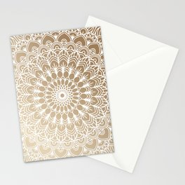 Gold Mandala 19 Stationery Cards