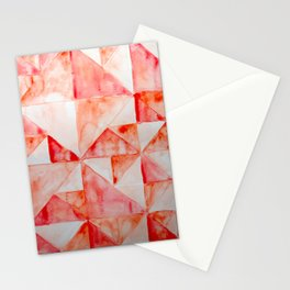 Red Triangles Stationery Cards