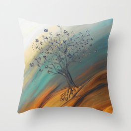 Roots Blazing Throw Pillow