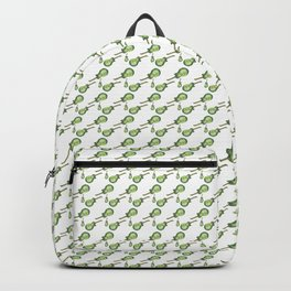 Music, Instrument, Guitare, green, pattern, Drawing, BebiCervin Backpack