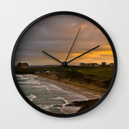 Cornish Seascape Newquay Cornwall Wall Clock