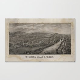 Village of Wyoming, Wyoming Valley Penn'a: scene of the massacre of July 3rd 1778 Canvas Print