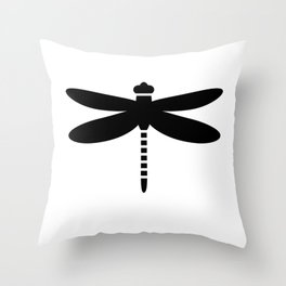 Bugs: abstract Dragonfly Throw Pillow