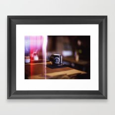 Cup of Coffee with a Light Leak Framed Art Print