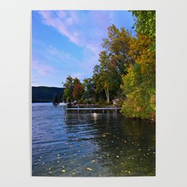Autumn Arrives at the Lake Poster