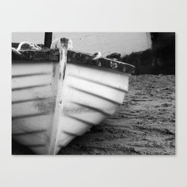 Rowboat in the Sand Canvas Print