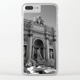 rome italy trevi fountain Clear iPhone Case