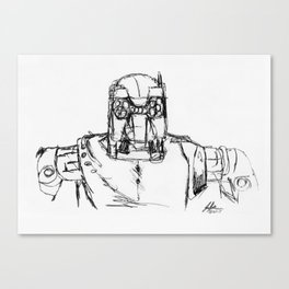 Warbot Sketch #030 Canvas Print
