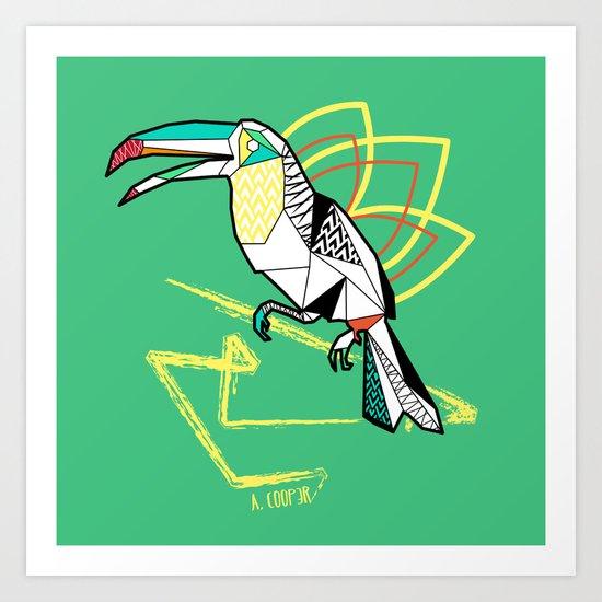 Geometric toucan Art Print