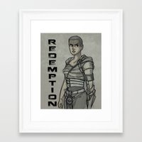 red dead redemption Framed Art Prints featuring Redemption by Karen Hallion Illustrations