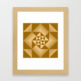 Abstract Triangles - Desert Framed Art Print