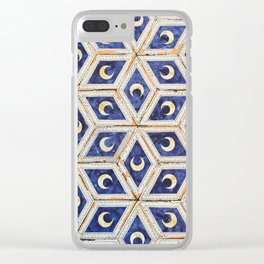 Vintage Moon Stone Pattern Tile, Siena, Italy Clear iPhone Case