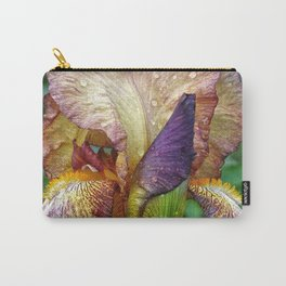 Iris With Raindrops Carry-All Pouch