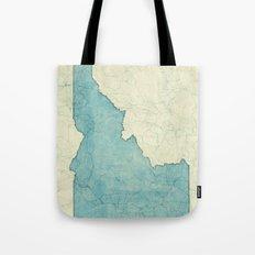 Idaho State Map Blue Vintage Tote Bag