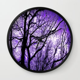 The Trees Know (purple) Wall Clock