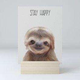 sloth print, children's room decor,  sloth art Mini Art Print