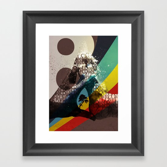 Love ve love love... Framed Art Print