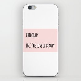 The Love Of Beauty iPhone Skin