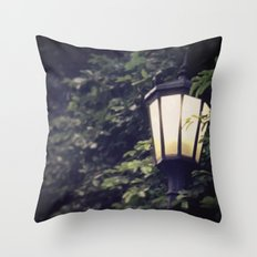 Overgrown Lamp Throw Pillow