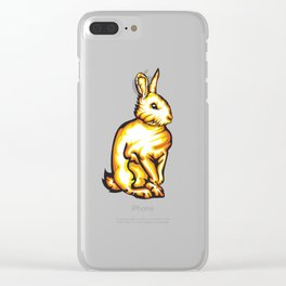 Angry Bunny Clear iPhone Case
