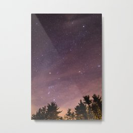 Orion Constellation in a Starry Sky Metal Print