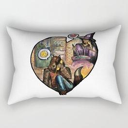 wizard and werewolf Rectangular Pillow