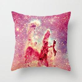 Galaxy : Pillars of Creation Nebula Throw Pillow