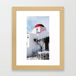 MYKONOS 01 Framed Art Print