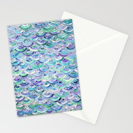 Marble Mosaic in Sapphire and Emerald Stationery Cards