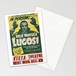Dracula, Bela Lugosi, vintage poster Stationery Cards