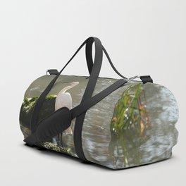 White Egret Duffle Bag