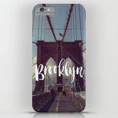 Brooklyn Bridge Photography and Calligraphy iPhone 6 Plus Slim Case