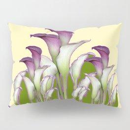 ART NOUVEAU CALLA LILIES PURPLE MODERN ART DESIGN Pillow Sham