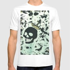 Last Laughing Skull White MEDIUM Mens Fitted Tee