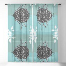 Green Yoga Seed Sheer Curtain