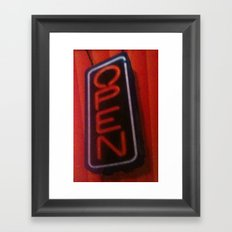 Open For Business Framed Art Print