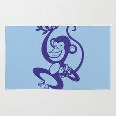 Blue Monkey Rug
