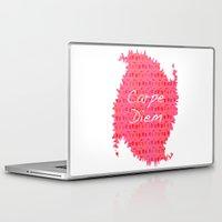 carpe diem Laptop & iPad Skins featuring Carpe Diem by Yasmina Baggili