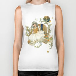 Colourful Seasons in the Forest Beautiful Childhood Fairytale Biker Tank