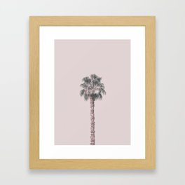 Tropical Palm Tree In Pastel Pink Light Framed Art Print