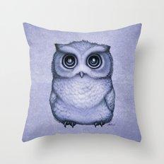 The Little Owl ~ Lavender Throw Pillow