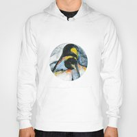 penguins Hoodies featuring Penguins by James Peart
