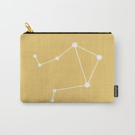 Libra Zodiac Constellation - Golden Yellow Carry-All Pouch