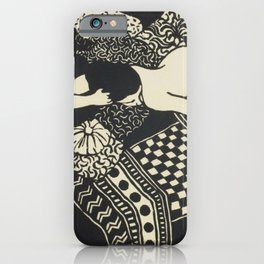 Woman With Cat iPhone Case