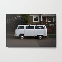 side streets in white Metal Print