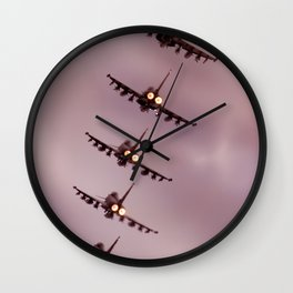 Fire and Steel Wall Clock