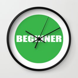 Text Beginner Wall Clock