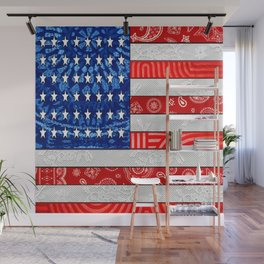 Retro American Flag Wall Mural
