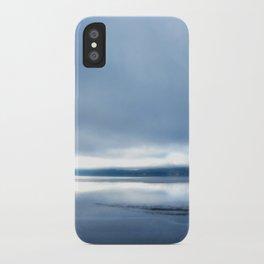 Soft winter sky iPhone Case