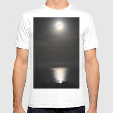 the moon illuminates the sea Mens Fitted Tee White MEDIUM